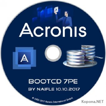 Acronis BootCD 7PE by naifle 10.10.2017 (x86/x64/RUS)