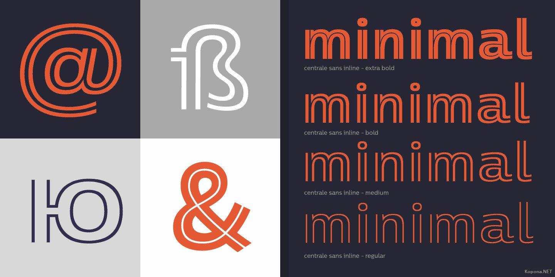 Шрифт Centrale Sans Inline (SVG, TTF, OTF, WOFF, WOFF2