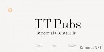 Шрифты семейства TT Pubs (TTF, OTF)