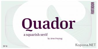 Шрифт Quador (TTF, OTF)