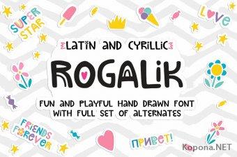 Шрифт Rogalik (SVG, TTF, OTF, WOFF, WOFF2)