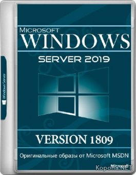 Windows Server 2019 Standard / Datacenter Version 1809 RTM October 2018 Update (RUS/ENG/2018)