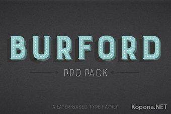 Семейство шрифтов Burford
