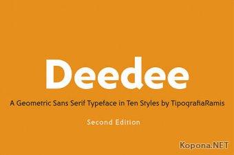 Семейство шрифтов DeeDee