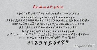 Шрифт Anamorphic