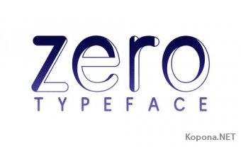 Шрифт Zero