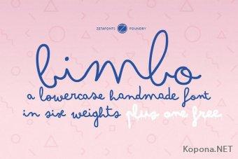 Шрифт Bimbo
