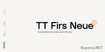 Шрифт TT Firs Neue