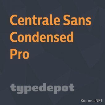 Шрифт Centrale Sans Condensed Pro