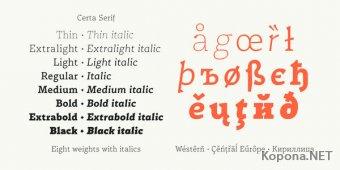 Шрифт Certa Serif