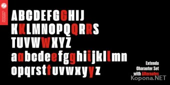 Шрифт Extenda