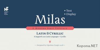 Шрифт Milas