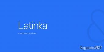 Шрифт Latinka