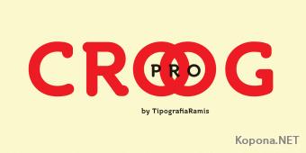 Шрифт Croog Pro