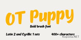 Шрифт OT Puppy