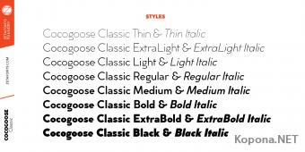 Шрифт Cocogoose Classic