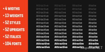 Семейство шрифтов Attractive