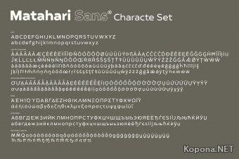 Семейство шрифтов Matahari Sans