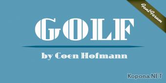 Шрифт Golf