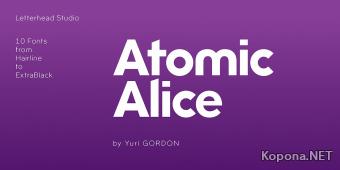 Шрифт Atomic Alice