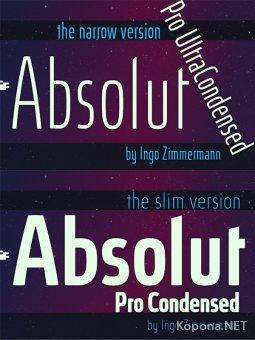 Семейство шрифтов Absolut Pro