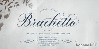 Шрифт Brachetto