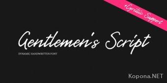 Шрифт Gentlemen's Script