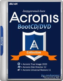 Acronis BootCD/DVD by andwarez 09.04.2020 (x86/x64/RUS)