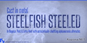 Шрифт Steelfish