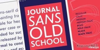 Шрифт Journal Sans Old School