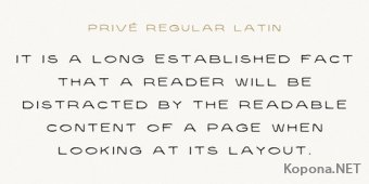 Шрифт Prive